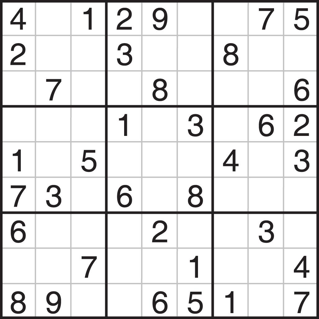 Printable Sudoku Puzzles Com