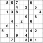 Printable Sudoku 4 Per Page Free HD