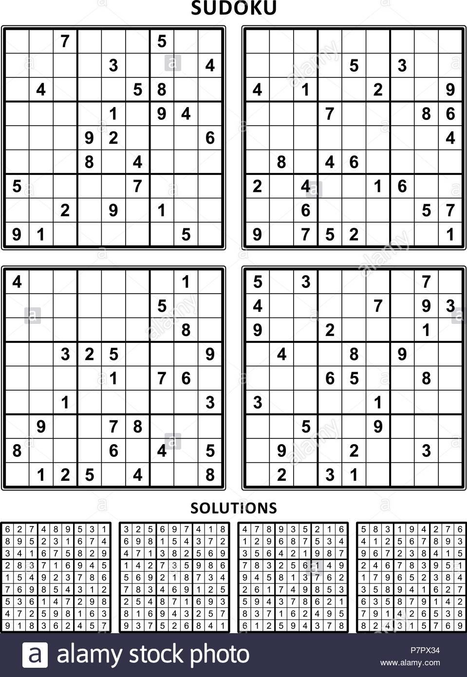 Hard Sudoku Printable 4 Per Page