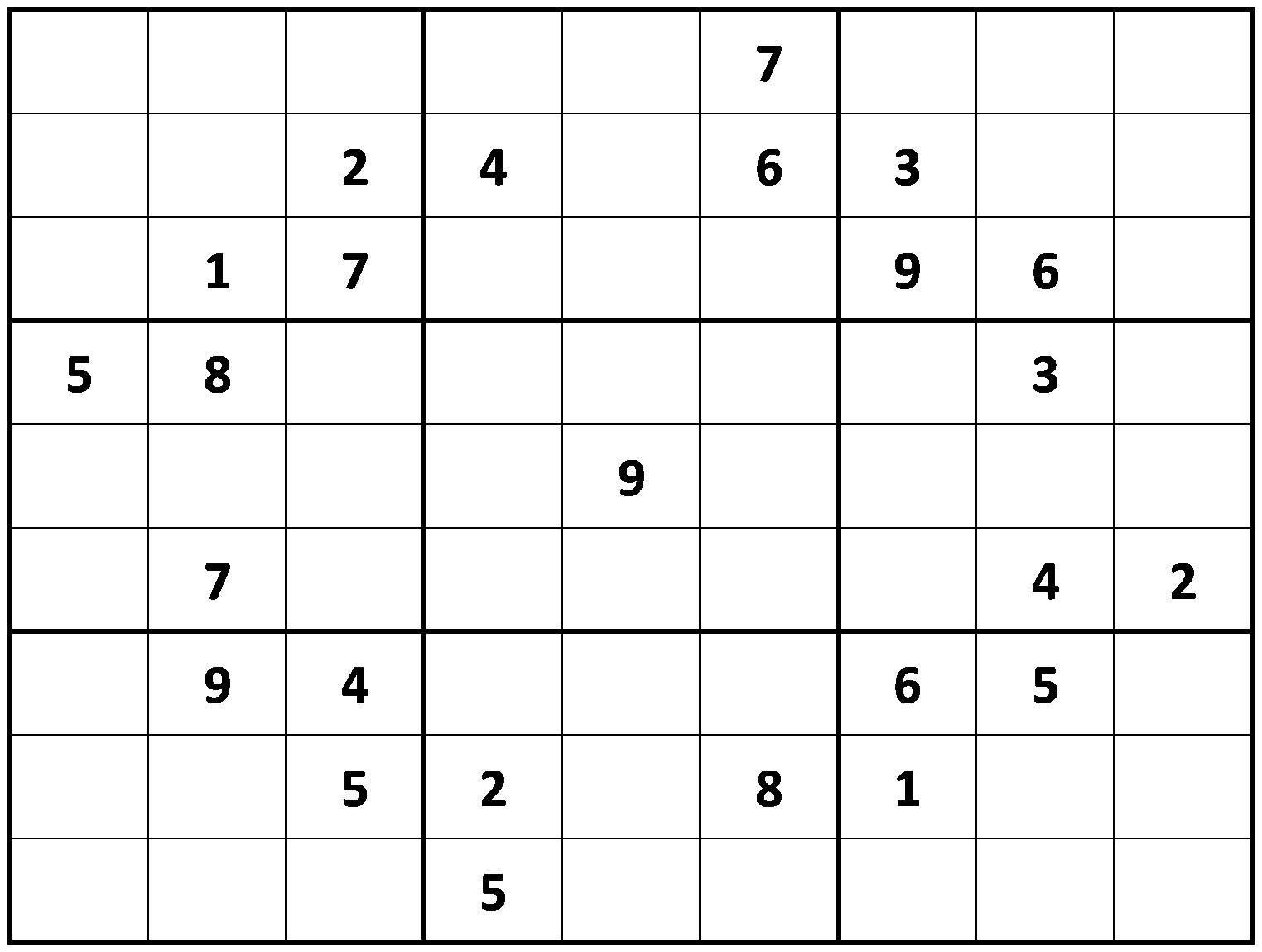 Very Hard Sudoku Puzzles Printable