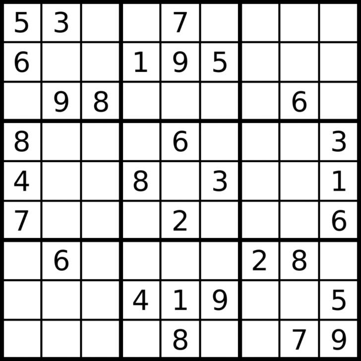 Free Printable Sudoku 6×6