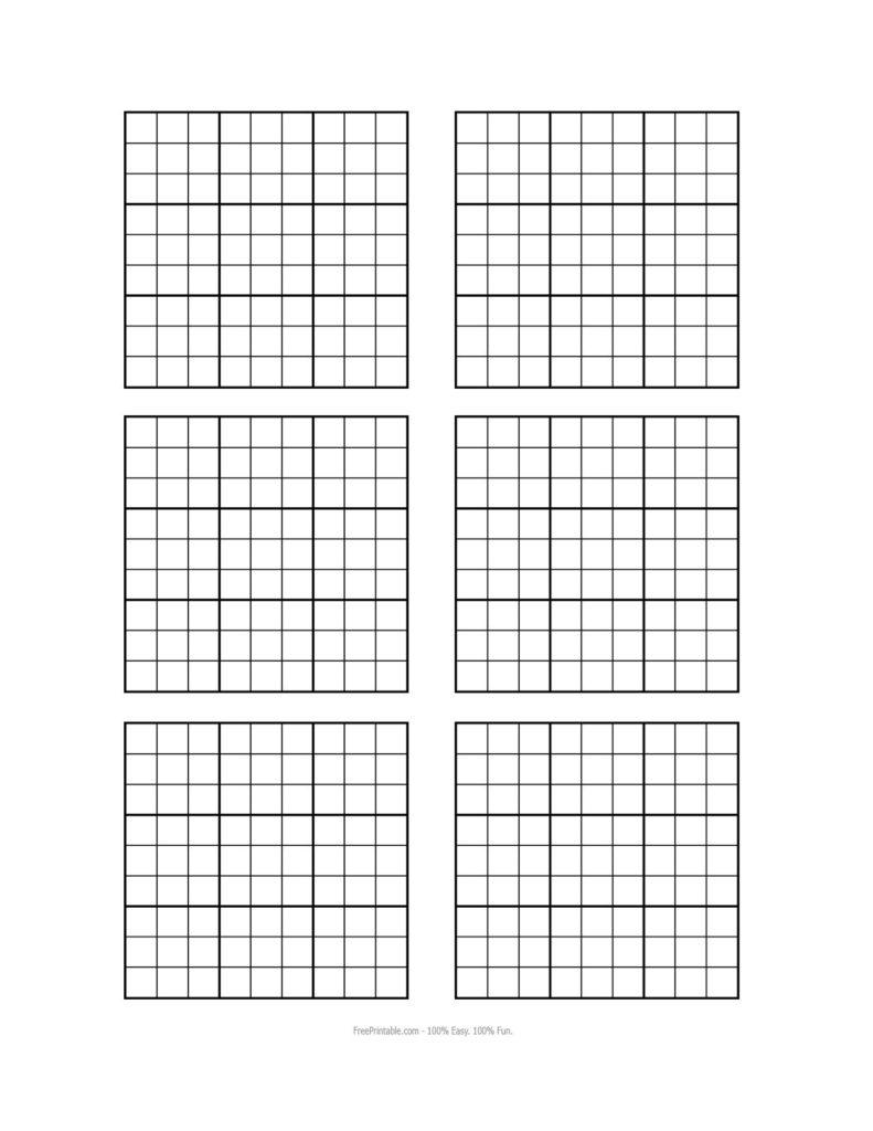 Sudoku Grid Printable Blank