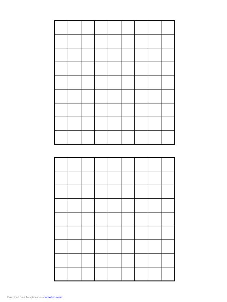 Free Printable Sudoku Grids