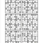 Printable Sudoku One Per Page Sudoku Printable