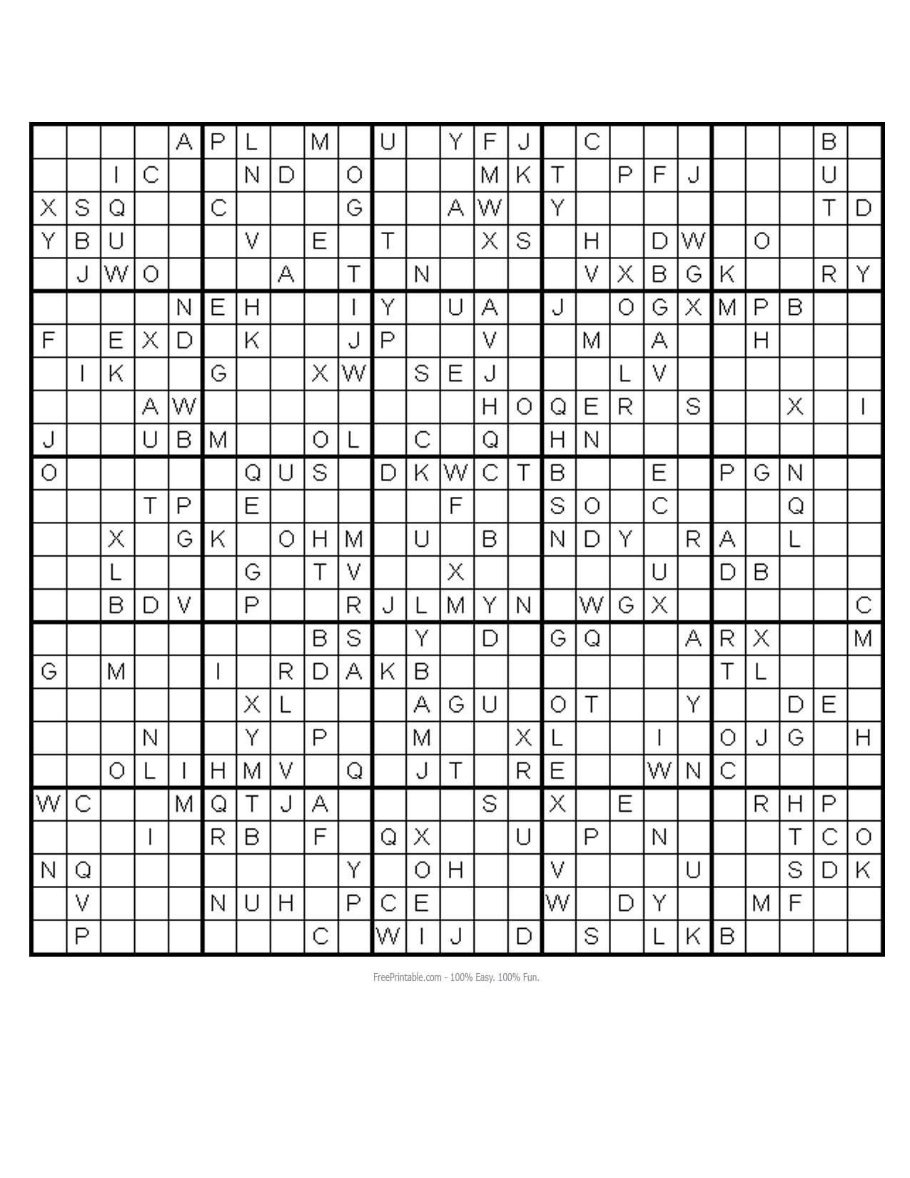Free Printable Monster Sudoku Puzzles
