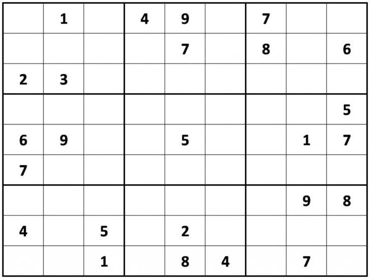 Sudoku For Adults Printable