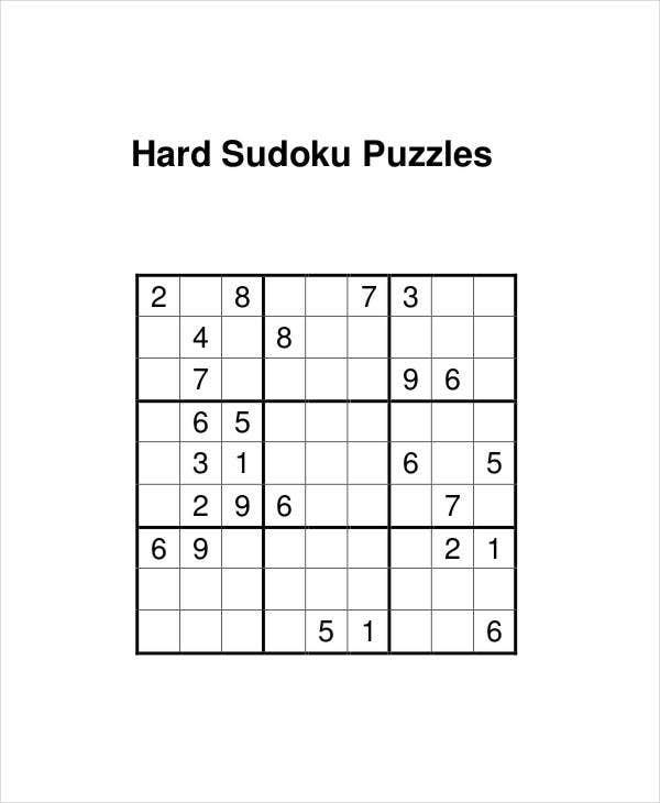 Sudoku Hard Printable Pdf