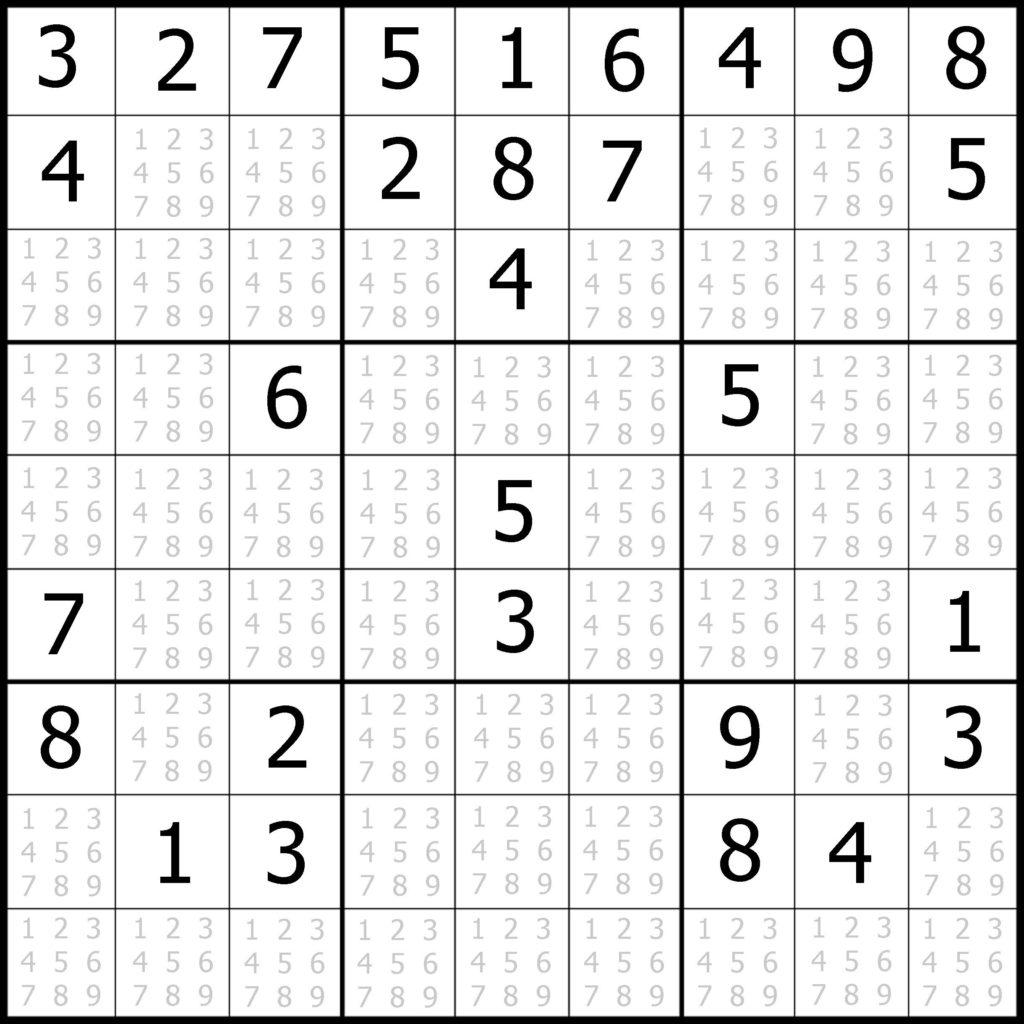 Printable Sudoku Puzzle Easy Printable Crossword Puzzles