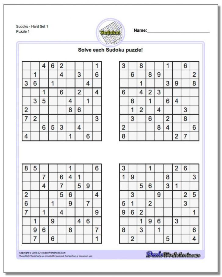 Free Printable Sudoku Variations