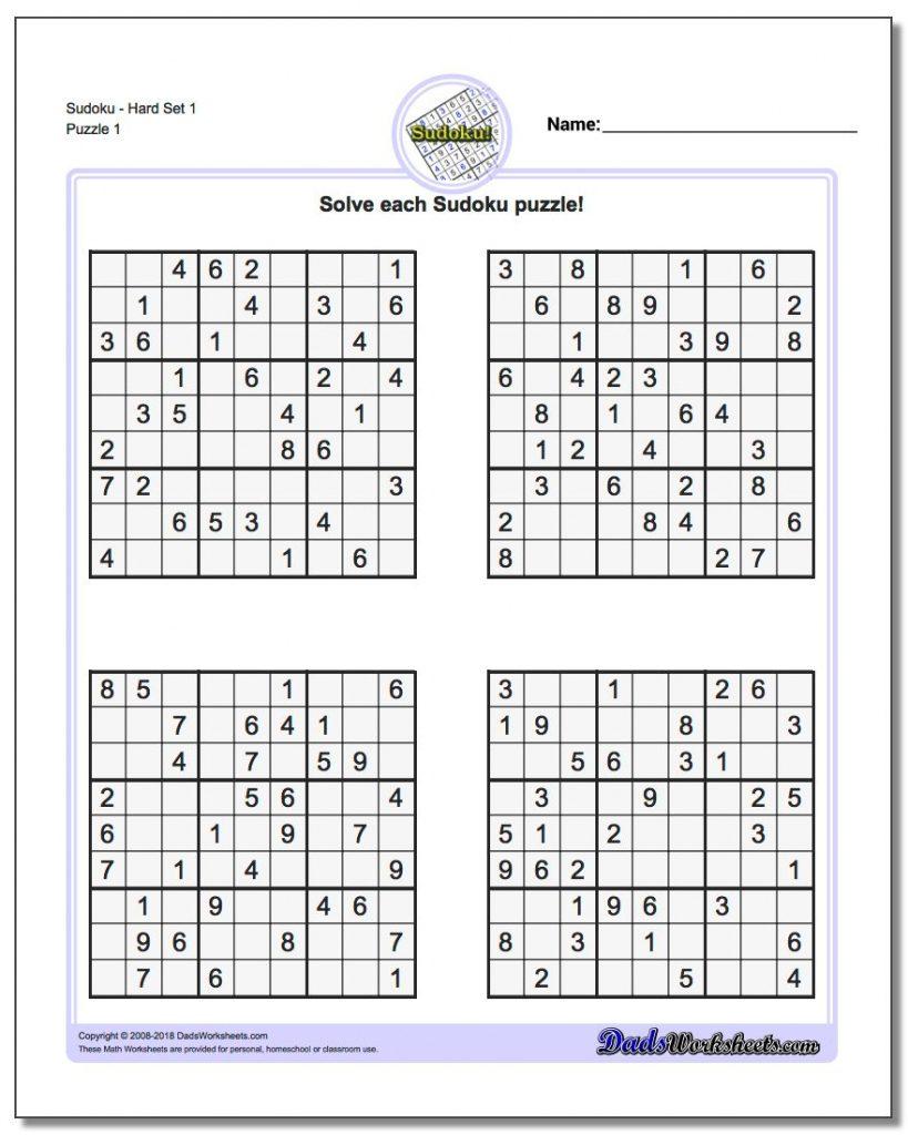 Sudoku Variations Printable
