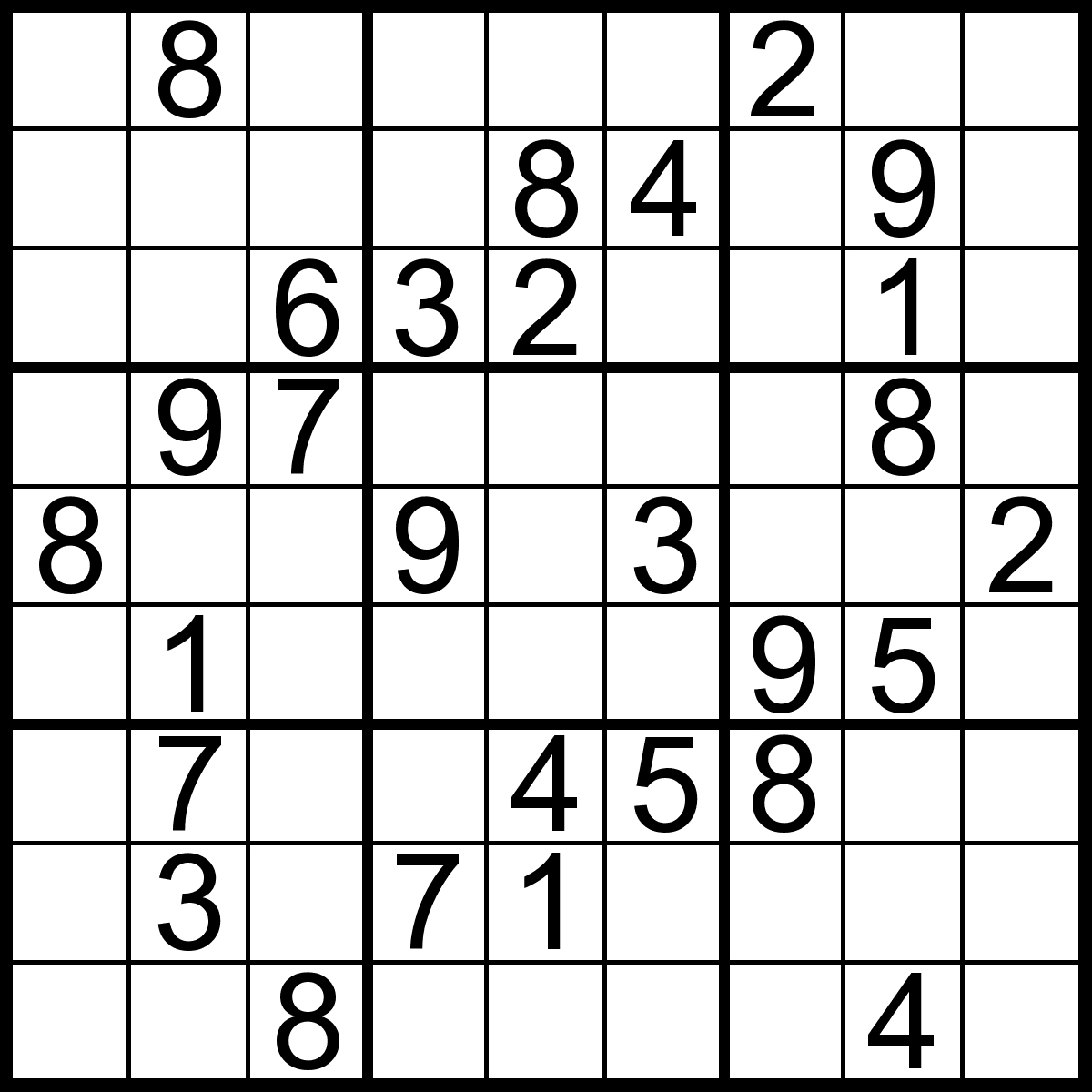 Sudoku 3x3 Printable