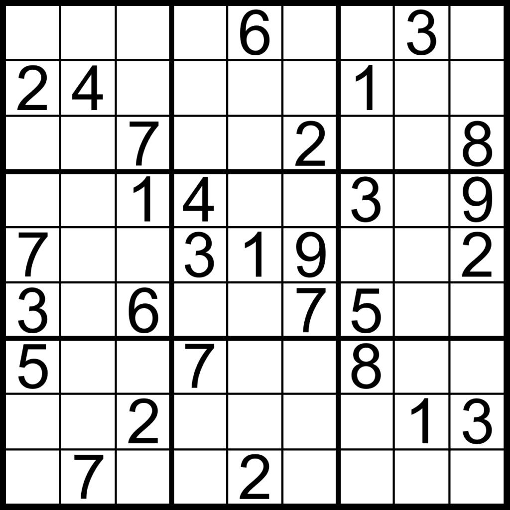 Printable Sudoku Puzzles 6 Coloring Kids