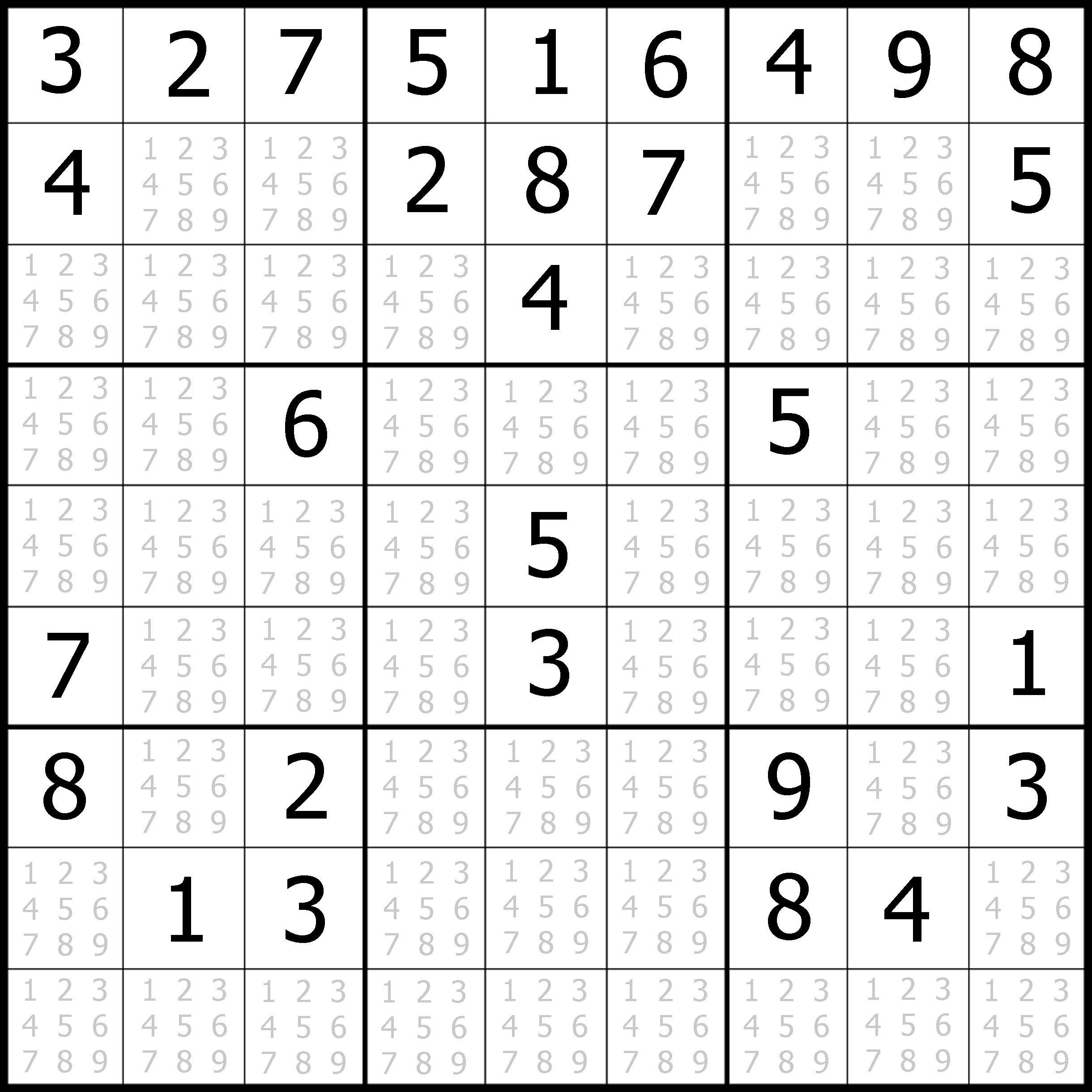 Free Printable Sudoku Puzzles Easy 1