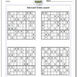 Printable Sudoku Puzzles Easy 1 Printable Crossword Puzzles