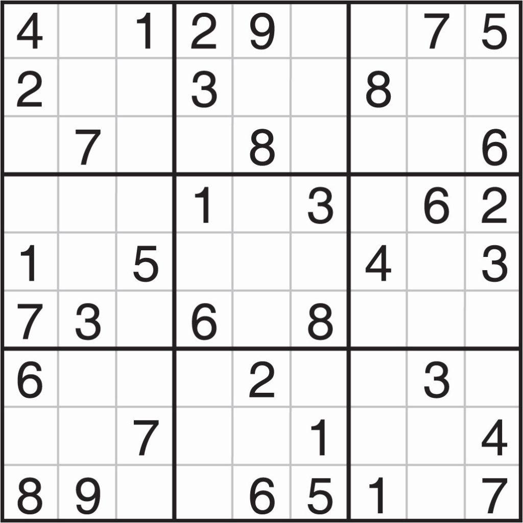 Printable Sudoku Puzzles Uk Printable Crossword Puzzles