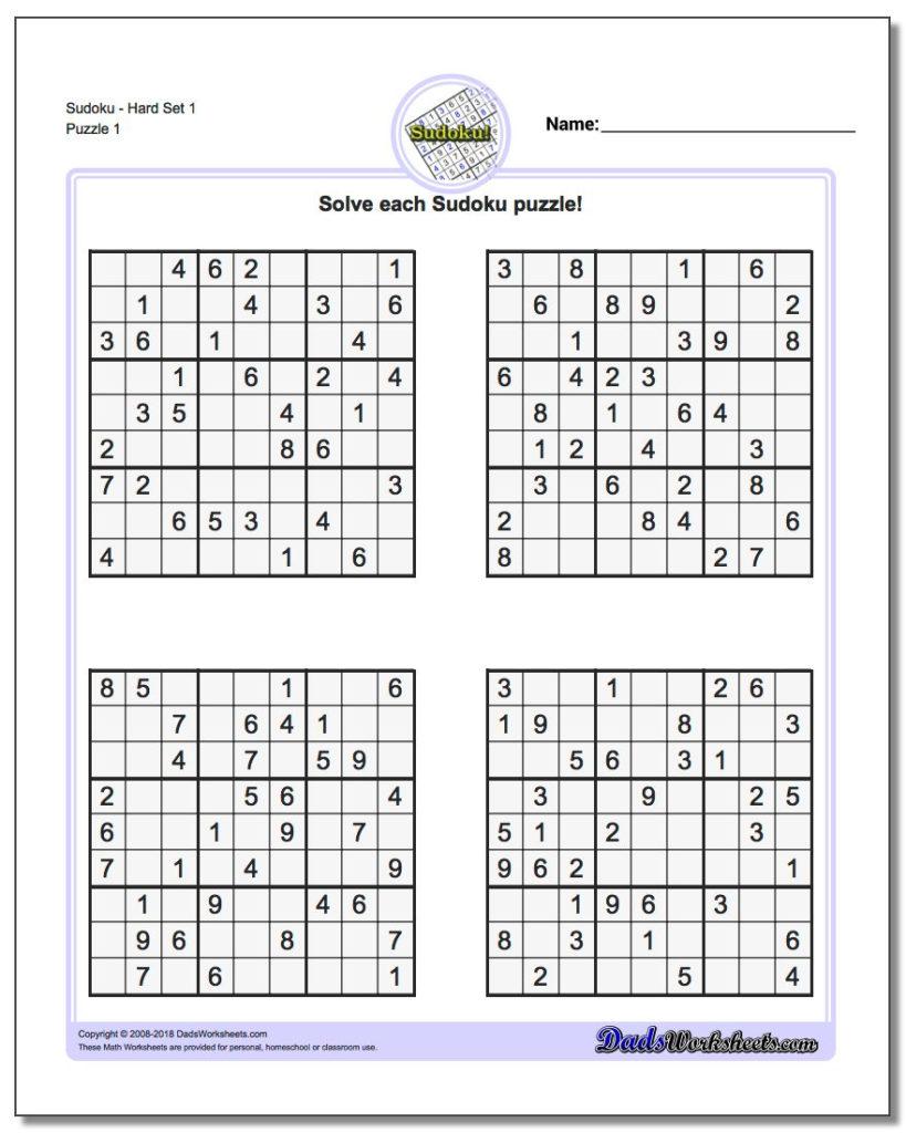 Printable Sudoku Sheets Room Surf