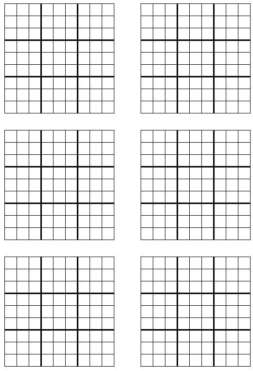 Free Sudoku 6 Per Page Printable