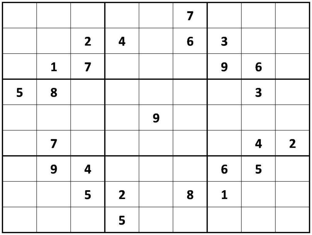 PRINTABLE SUDOKU Sudoku Printable Sudoku Sudoku Puzzles