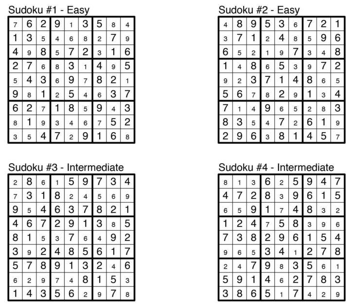 Printable Sudoku And Answers