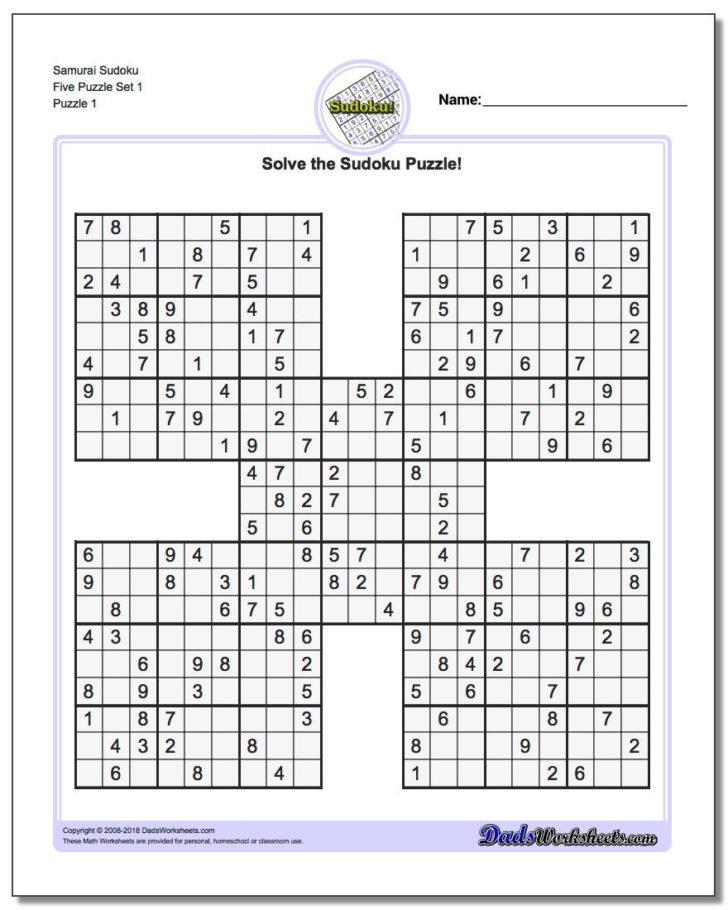 Printable Sudoku Worksheets