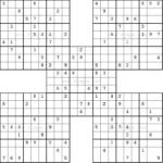 Samurai Sudoku Puzzles Just Like Those In The Washington