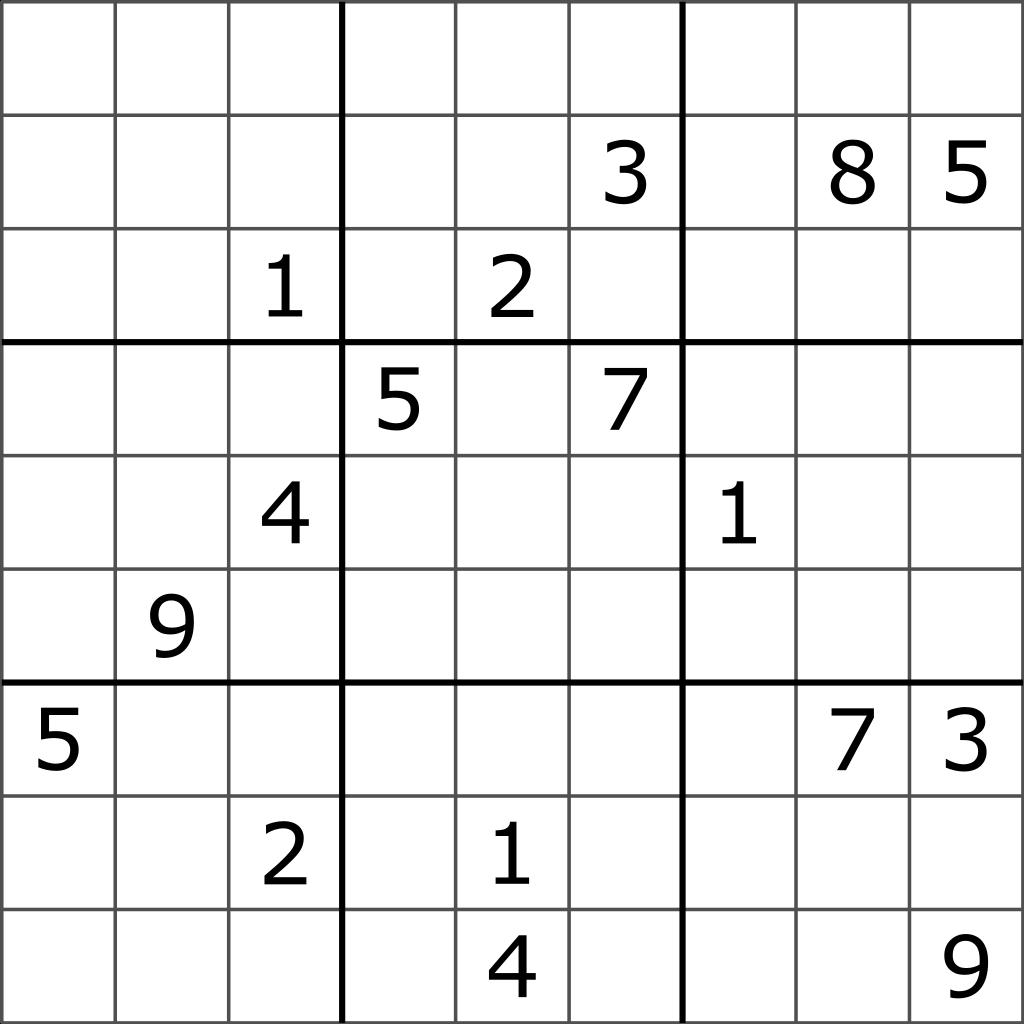 Difficult Sudoku Printable
