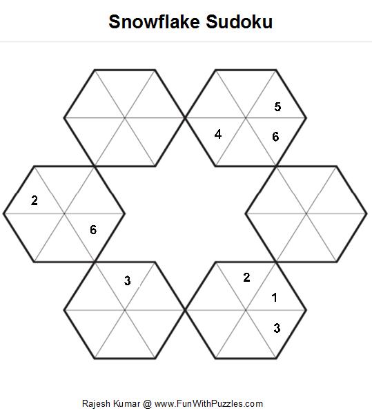 Snowflake Sudoku Printable