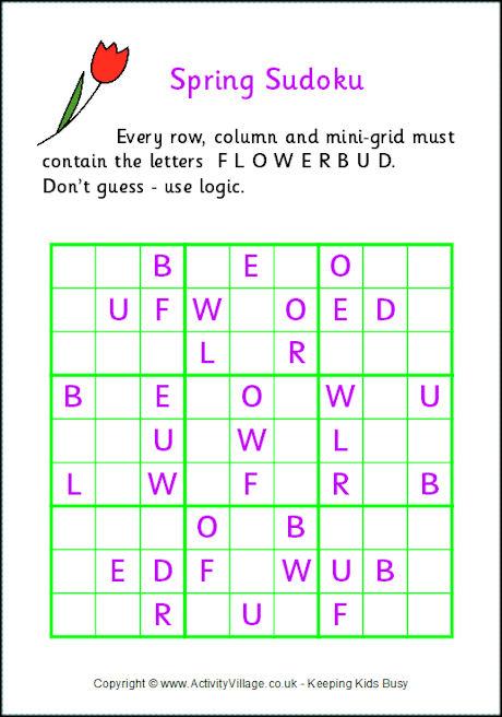 Spring Sudoku Printable