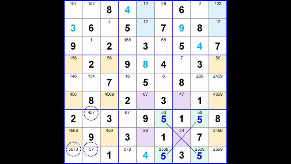 Stuck How Do I Find Any X Wings Or Swordfishes Sudoku
