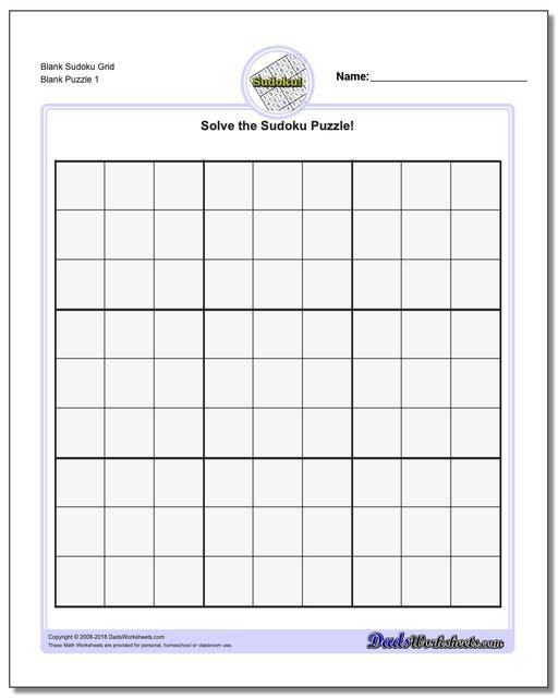 Make Your Own Sudoku Printable