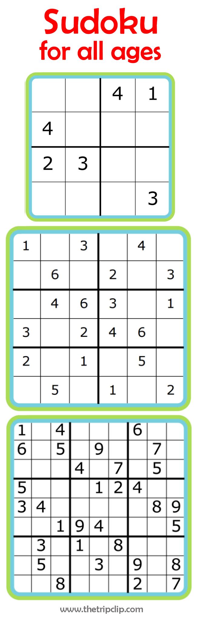 Free Printable Sudoku 6x6