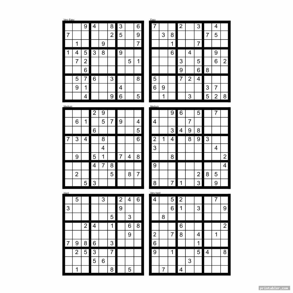 Sudoku Blank Printable Grids 4 Per Page Sudoku Printable