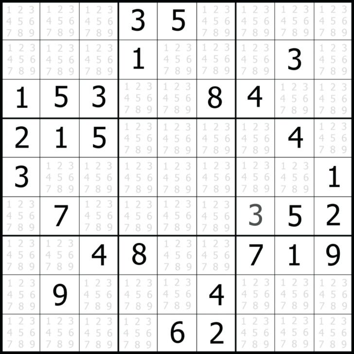 Printable Sudoku 1 Per Page