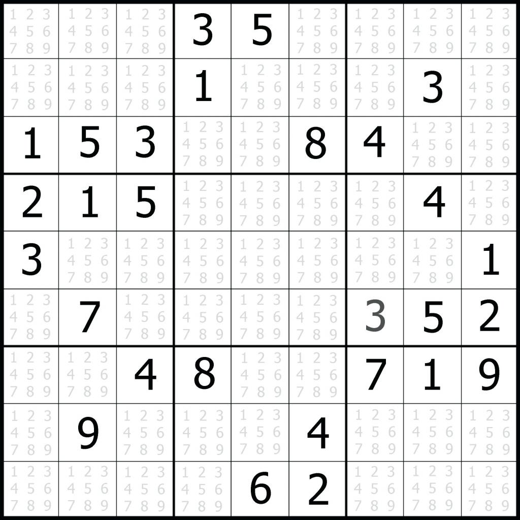 Sudoku Printable 1 Per Page