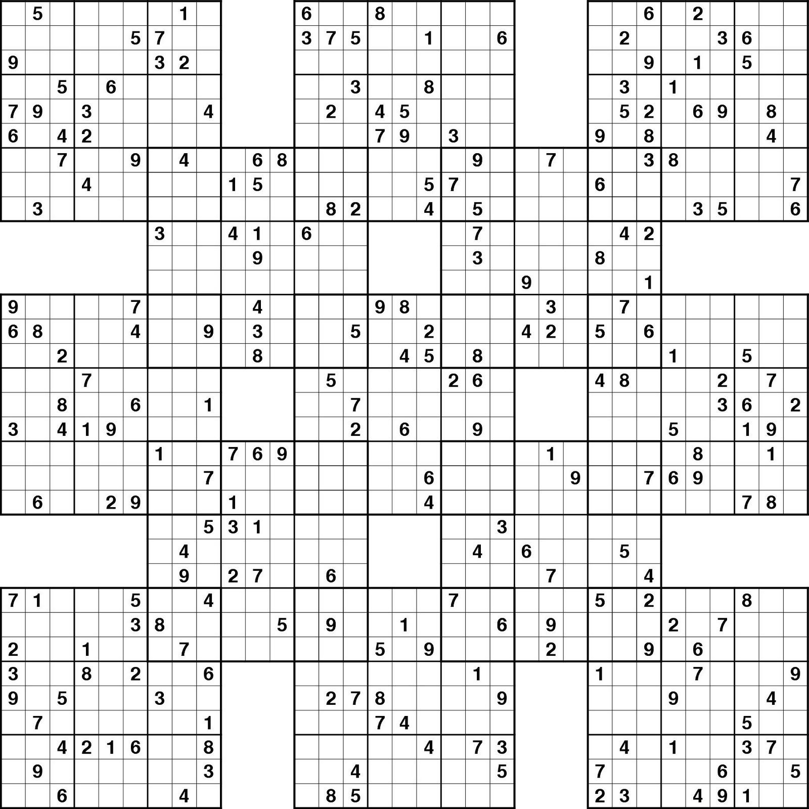 Diagonal Sudoku Printable