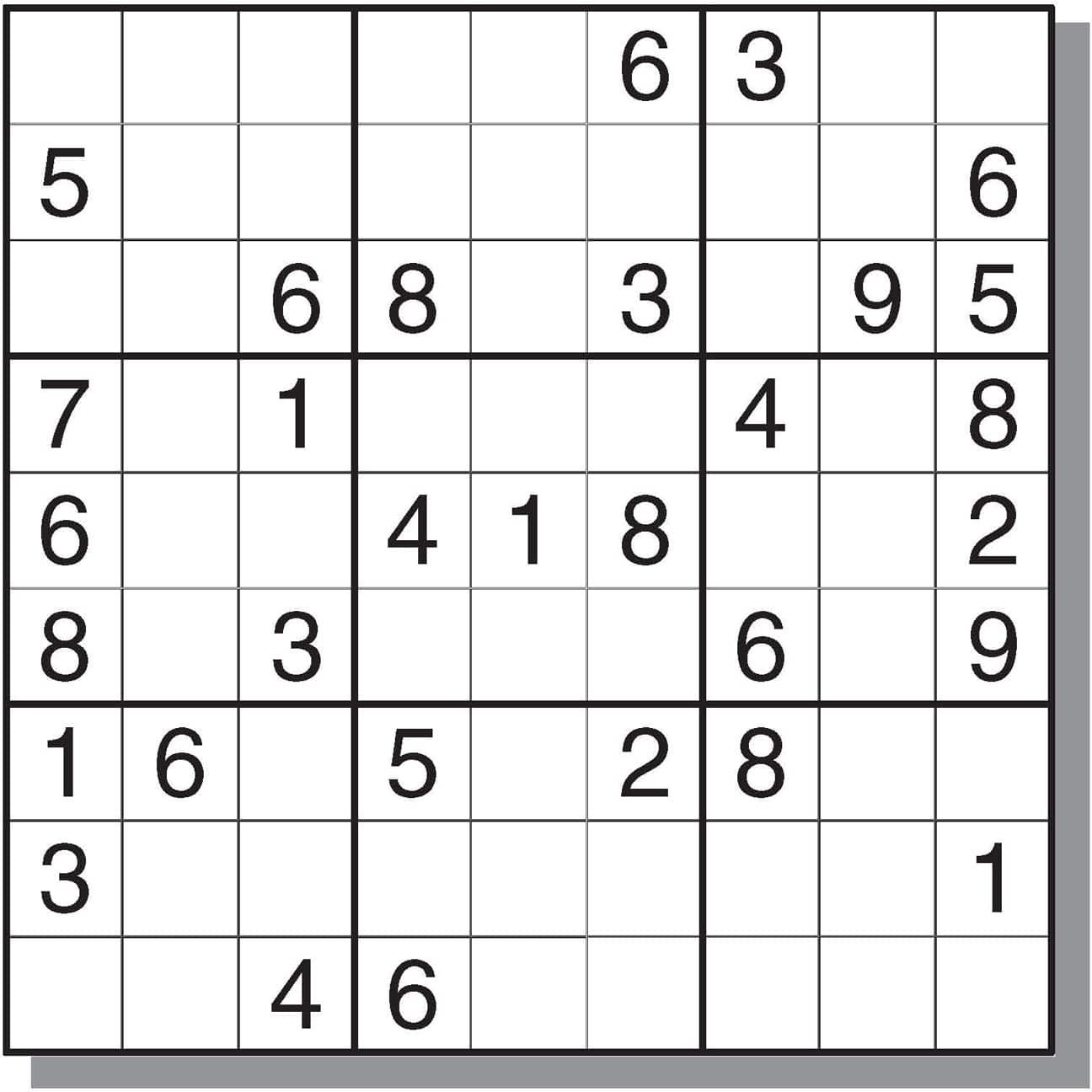 Free Easy Sudoku Printables
