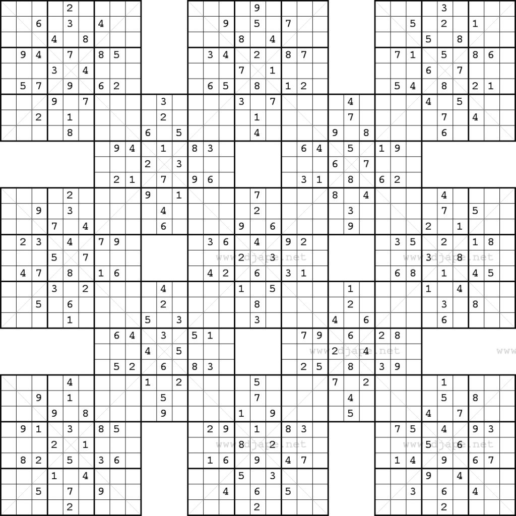 X Sudoku Printable