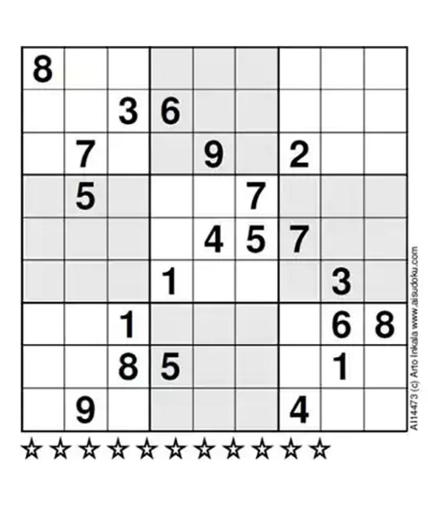 Sudoku Expert Level Printable Sudoku Printable