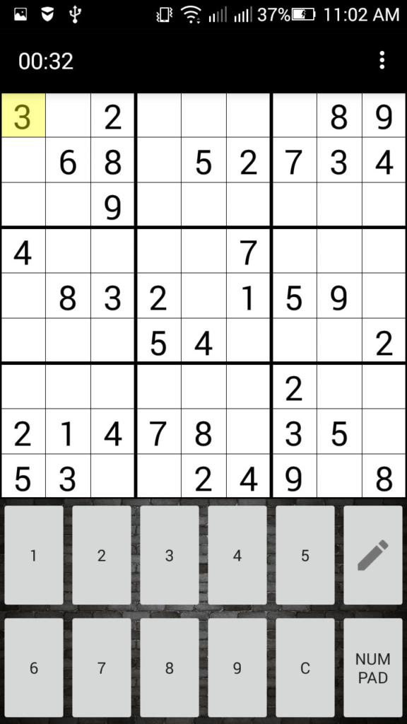 Sudoku Free Puzzle Game