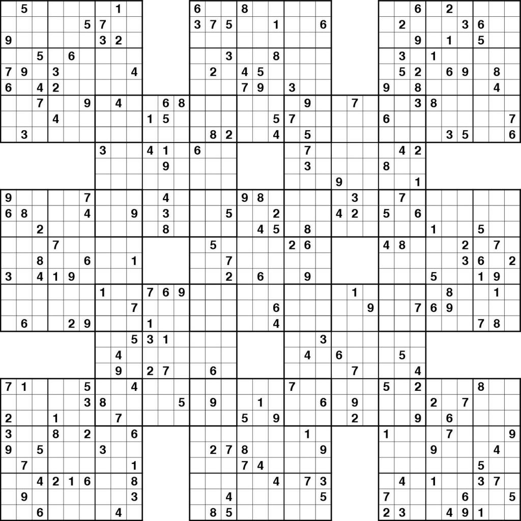 5 Grid Sudoku Printable