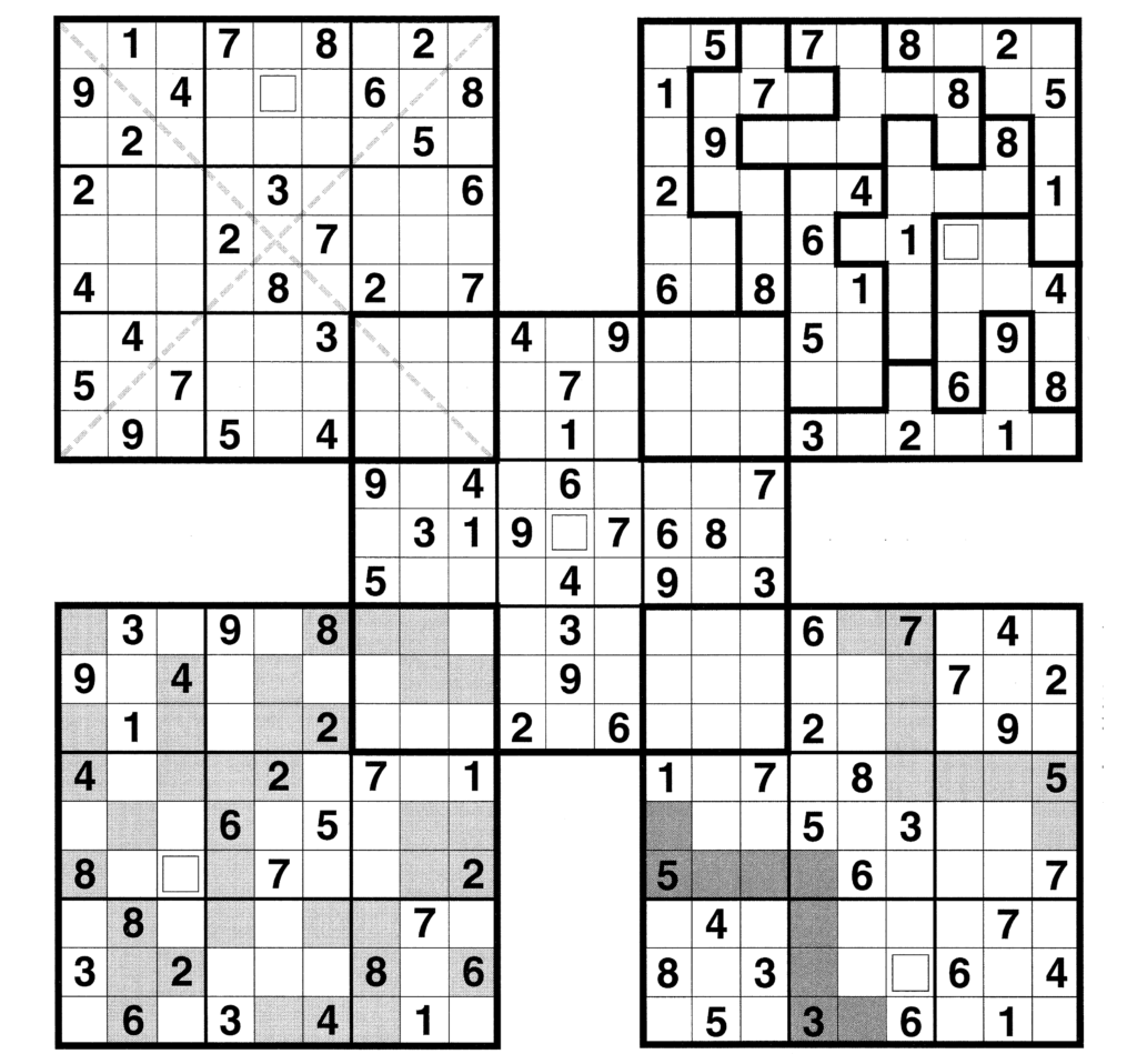 Sudoku High Fives Sudoku Puzzles High Five Puzzles For