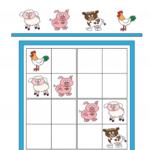 Sudoku Junior Farm Animals KidsPressMagazine