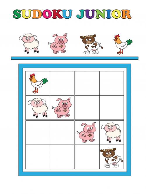 Junior Sudoku Printable