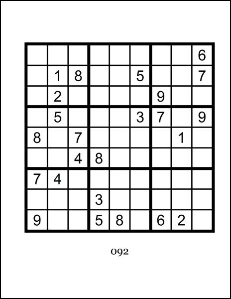 Printable Sudoku Puzzles Expert