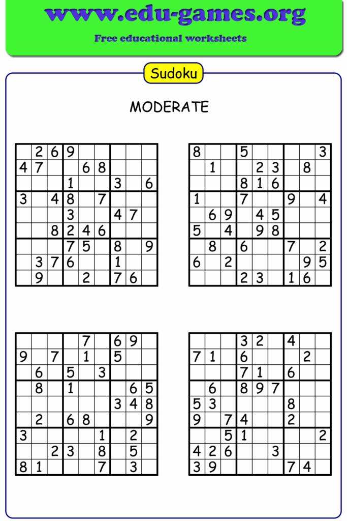 Sudoku Maker Free Printable Worksheets