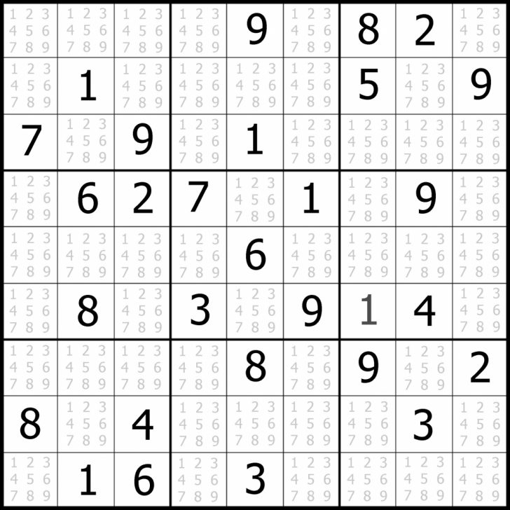 Medium Level Printable Sudoku