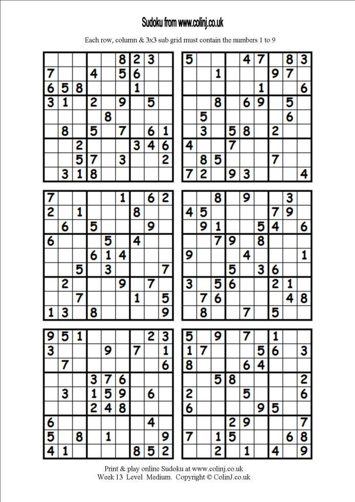 Printable 3d Sudoku