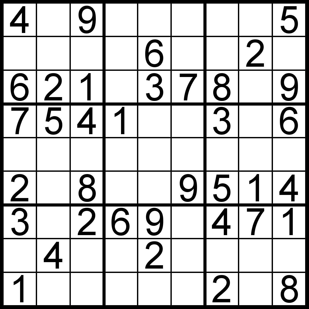 Sudoku For Beginners Printable