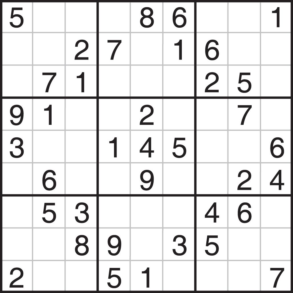 Printable Sudoku Puzzles Com Resueltos