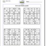Sudoku Printable Medium 6 Per Page Sudoku Printable